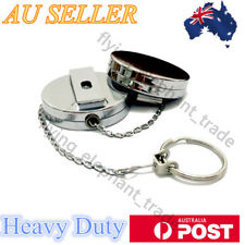 Metal Chain Retractable Pull Key Ring Belt Clip Snap Steel ID Card Holder AU