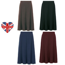 LADIES DESIGNER 8 PANEL POCKET SKIRT A-LINE HALF ELASTIC MADE IN UK SIZES 12-22