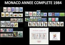 MONACO 1984 ANNEE COMPLETE Neuve** avec Blocs N°27 & 29 Cote : 118€75 MNH