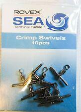 ROVEX CRIMP SWIVELS SEA FISHING COARSE FISHING RIG CROSS-LINE SWIVELS
