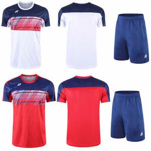 New Outdoor tennis sportswear men's clothes Badminton Tops set T-Shirts+shorts