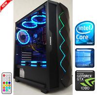 Gaming PC Desktop Intel Core i7 3.9GHz/GTX 1080 8GB/SSD/16GB RAM/1TB HDD/RGB LED
