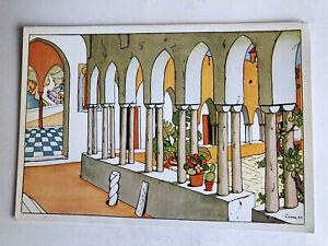 Cartolina Pubblicitaria Chiostro Hotel Luna Amalfi Arte Amendola c3