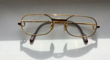 Vintage Cartier Gold-Plated Oval Eyeglasses 55-20 140