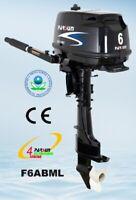 Parsun 6hp 4 Stroke Outboard Manual Start, Tiller, Long Shaft F6ABML w/ 12V DC