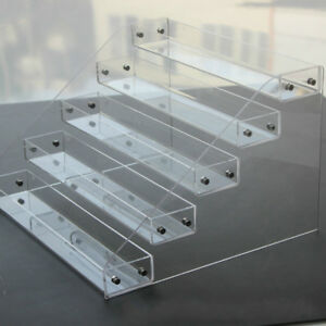 Clear Acrylic 2-6 Tier Display Shelf Showcase for Action Figure Bauble Cosmetics