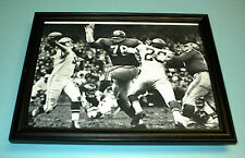 1960s GIANTS GRIER & ROBUSTELLI FRAMED B&W ACTION PRINT