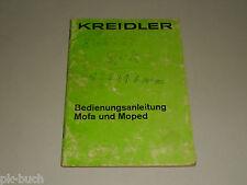 Betriebsanleitung Handbuch Kreidler Mofa Moped MP MF, Stand 04/1972