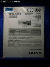 Sony Service Manual Dsc U30 Level 2 Digital Still Camera (#5864)