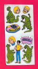 Godzilla Characters Puffy Sticker Sheet Old Store Stock