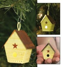 Lighted Punched Tin BIRDHOUSE Christmas Tree Ornament