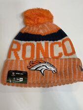 fb6ba9b8c6f New Era DENVER BRONCOS Sport Knit NFL ON FIELD Cuffed Beanie Winter Hat Pom  NWTs