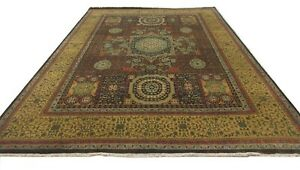 Peshawar Oriental Rug 12.9 X 9.0 feet Hand Knotted Mamluk Carpet The Rug Company
