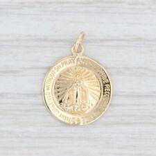 Miraculous Medal 14k Yellow Gold Mary Religious Catholic Token Charm