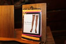 New Leg Avenue Opaque Striped Thigh Highs One Size 90-160lbs Orange Black
