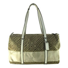 COACH LOZENGE BROW KHAKI SIGNATURE SATCHEL BAG