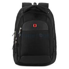 "Swiss Men 15"" Laptop Notebook Backpack Macbook Travel School Bags Waterproof"
