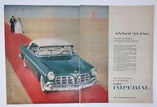 Original Print Ad 1954 IMPERIAL Vintage Auto Car Red Carpet Beach Ocean Art