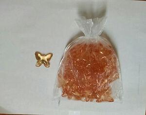 50 Amber Butterfly Gardenia Bath Oil Beads