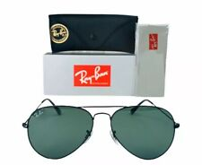 Ray-Ban Aviator Classic RB3025 L2823 Black Sunglasses 58mm G-15 Lens W/ Case