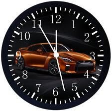 Nissan GTR Black Frame Wall Clock Nice For Decor or Gifts E279