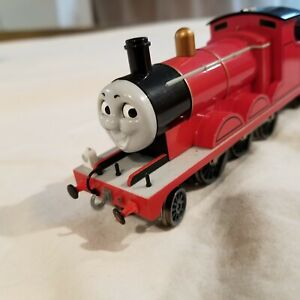 Bachmann HO Scale Thomas Moving Eyes Locomotive Train - Red with tender, USED
