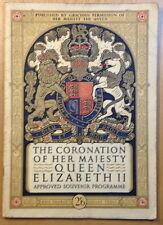 THE CORONATION OF HER MAJESTY QUEEN ELIZABETH ll APPROVED SOUVENIR PROGRAMME