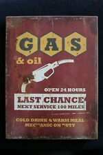 VINTAGE WOODEN GAS AND OIL/GARAGE HANGING