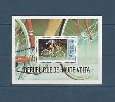 Haute Volta  bloc  jeux olympiques Moscou cyclisme   1980  num: BF 16 **