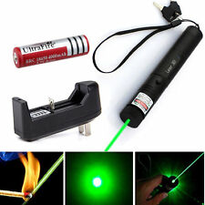 532nm Green Laser Pointer Light Pen Lazer Beam High Power 5mw + battery +Charger