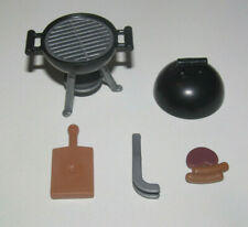 Playmobil Accessoire BBQ Barbecue Rond + Grillades Viandes & Accessoires NEW