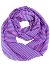 BLUE FINE STRIPED LIGHT CIRCLE SCARF