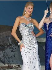 $479 NWT TONY BOWLS WHITE PROM/PAGEANT/FORMAL/WEDDING DRESS/GOWN CB16 2 4