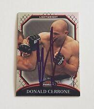 DONALD COWBOY CERRONE SIGNED AUTO'D 2011 UFC TOPPS CHROME REFRACTOR CARD #76 246
