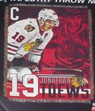 New Jonathan Toews Chicago Blackhawks Throw Gift Afghan Blanket NHL Hockey Team