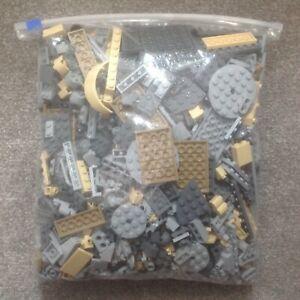 Lego 1Kg One Kilo Light Bluish Grey Dark Bluish Grey Tan and Dark Tan Pieces