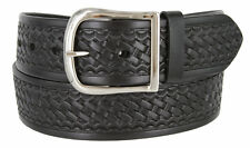 "Heavy Duty Basketweave Work Uniform Gun Leather Belt 1 3/4"" Wide Black Brown Tan"