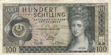 Billet banque AUTRICHE AUSTRIA 100 SCHILLING 1969 état voir scan 523