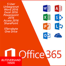 Microsoft Office 365 PRO PLUS 2016 für 5PC/5MAC 5TB OneDrive, LIFETIME