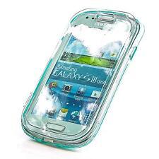 Flip Silikon Handy Tasche Samsung Galaxy S3 Mini i8190 Türkis Schutz Hülle Case