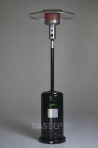 REALGLOW Gas Patio Heater 13kw in Gloss Black