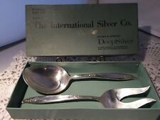 HOLMES & EDWARDS DEEP SILVER WOODSONG SALAD PAIR (D014)
