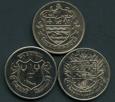 3 of 1972 British Football Association Challenge Cup Coin Tokens 27mm Dia. Each