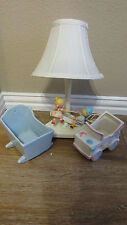 Baby night lamp, music box vintage 1960's car ceramic made in Sweeden fidget spi