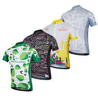 Men's Short Sleeve Cycling Shirts Bike Bicycle Jersey with Reflective Zip Pocket