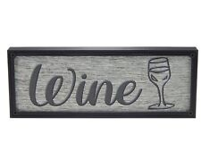 Wine Rustic Farmhouse Kitchen Standing Sign or Wall Hanging Home Decor Print