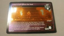 WWE Raw Deal I DON'T CARE ABOUT THE HEAT FOIL card MINT