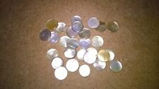 12 Mother of Pearl   Shell  Luthier Craft  Dots 12   mm  Vintage
