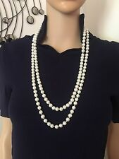 Elegant Faux Pearl Long Necklace 1920's Gatsby Flapper Party Wedding
