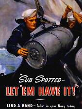 PROPAGANDA WAR WWII US NAVY SUBMARINE TNT BOMB SAILOR MILITARY ART POSTER CC4123